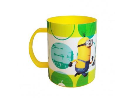 Mug plastique micro ondable minions