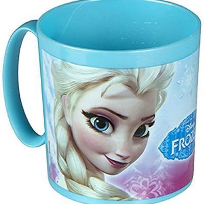 Mug La reine des neiges Elsa et Anna en plastique alimentaire  micro-ondable