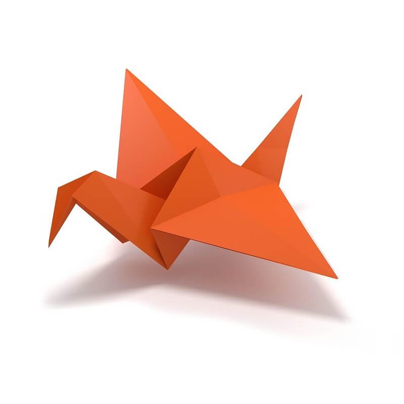 Oiseau origami exemple