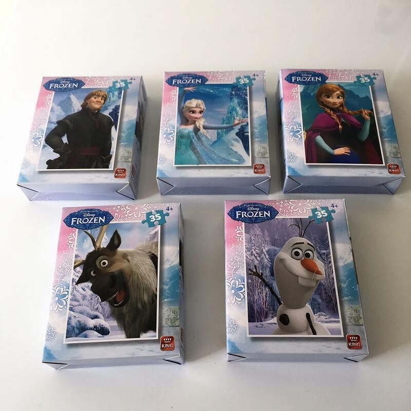 Pack 5 puzzles la reine des neiges disney enfant