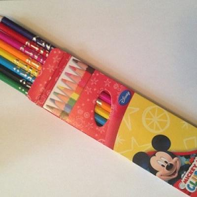 Pack crayons de couleur Mickey