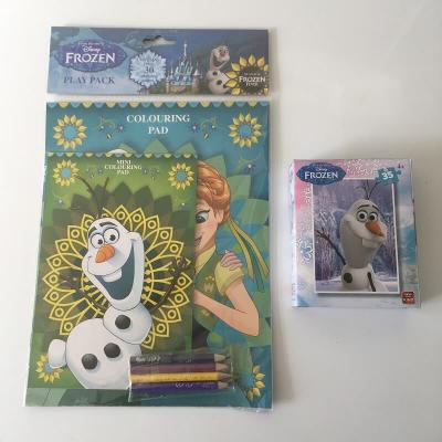 Pack créatif La reine des neiges - Un set de coloriages et 1 puzzle Olaf