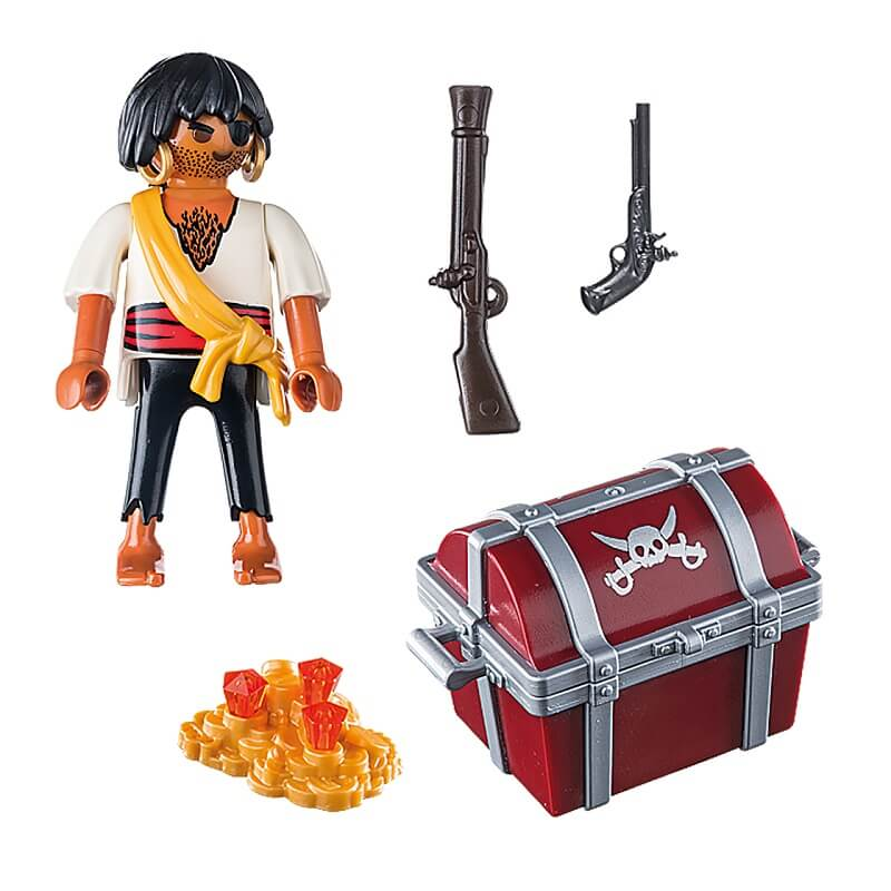 Pack pirate avec coffre au tresor playmobil