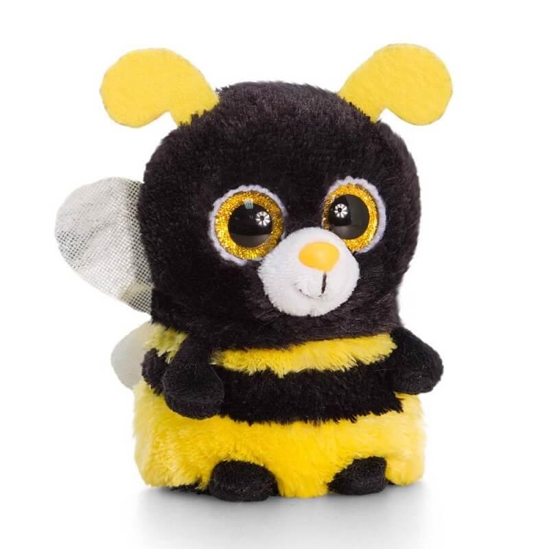 Peluche abeille aux gros yeux minimotsu keel toys