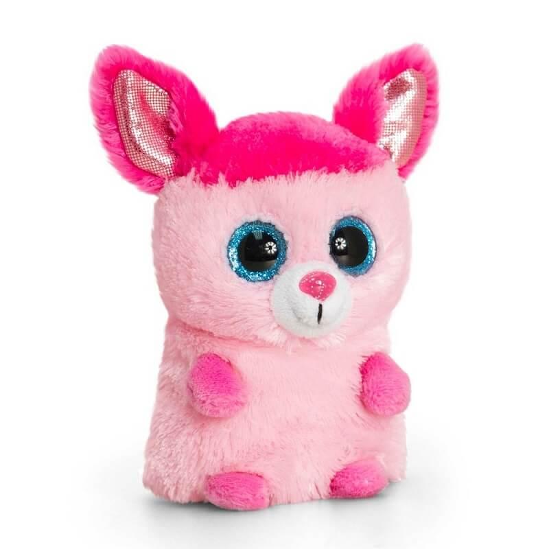 Peluche banbicoot rose auxgros yeux minimotsu keel toys