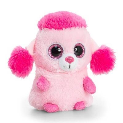 Peluche caniche rose aux gros yeux Mini Motsu Keel Toys