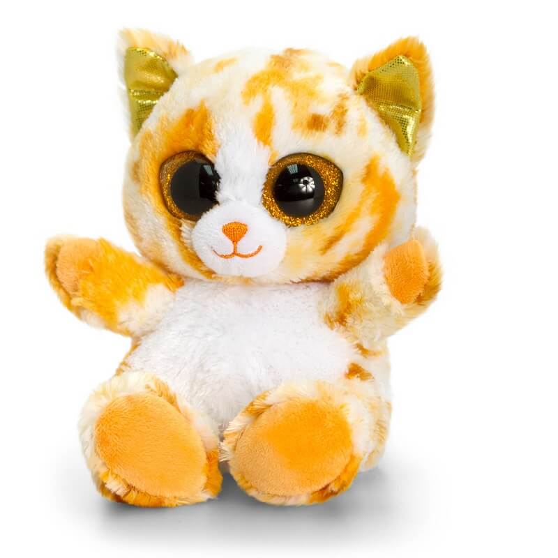 Peluche chat gros yeux animotsu kell toys 1