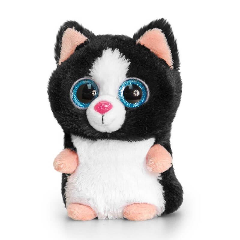 Peluche chat gros yeux minimotsu keel toys