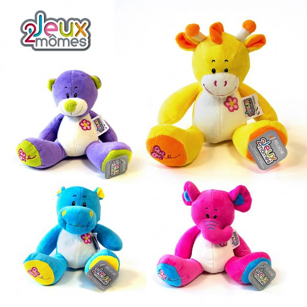 Peluche coloree animaux 1