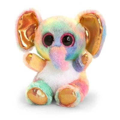 Peluche éléphant Animotsu Rainbow Keel Toys