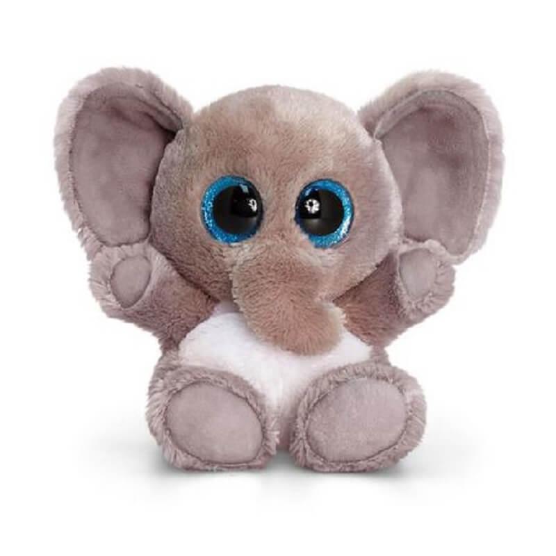 Peluche elephant aux gros yeux maxi animotsu wild keel toys