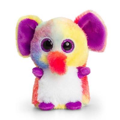 Peluche éléphant multi-couleurs aux gros yeux Mini Motsu Keel Toys