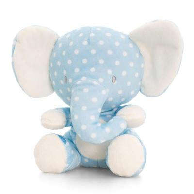 Peluche éléphant bleu Baby Keel Toys