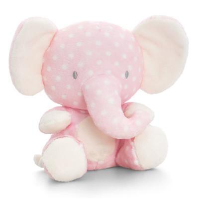Peluche éléphant rose Baby Keel Toys