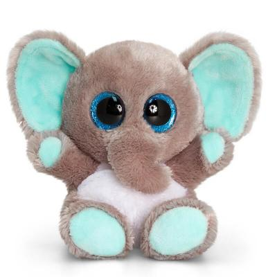Fille éléphant peluche pleine de douceur aux gros yeux