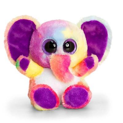 Peluche éléphant toute douce aux gros yeux