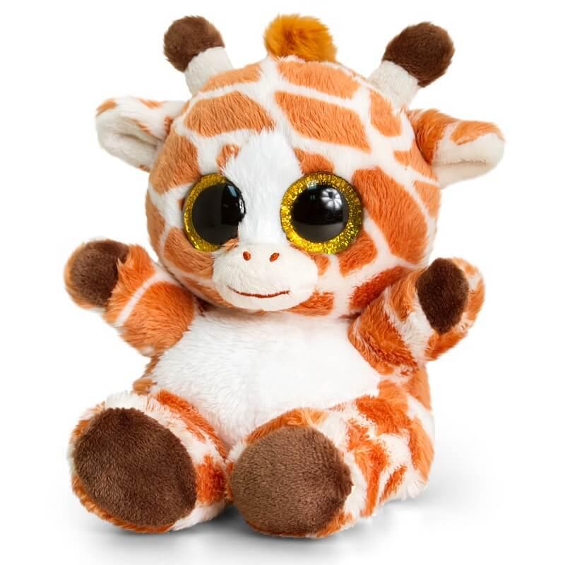 Peluche girafe aux gros yeux maxi animotsu wild keel toys