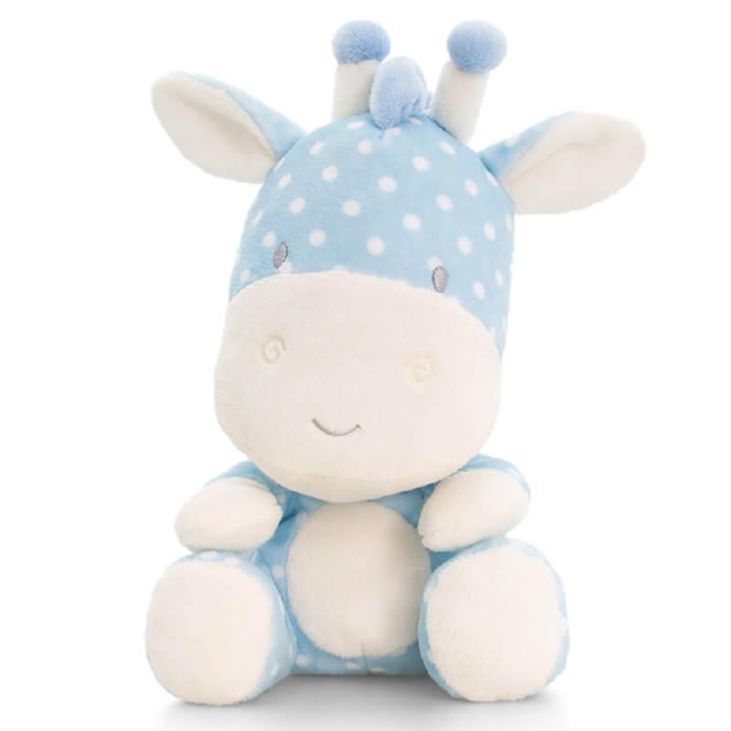 Peluche girafe bebe bleu keel toys baby