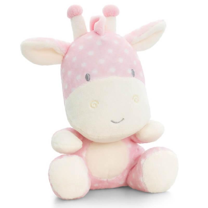 Peluche girafe bebe rose keel toys baby