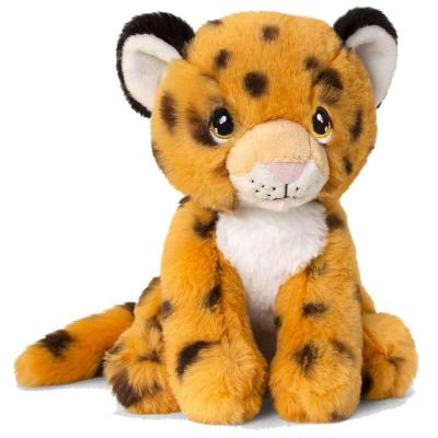 Peluche guepard eco responsable keeleco 18 cm