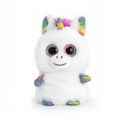 Peluche keel toys mini motsu licorne blanche