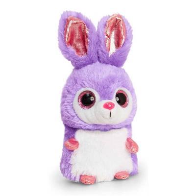 Peluche lapin violet et blanc aux gros yeux Mini Motsu Keel Toys