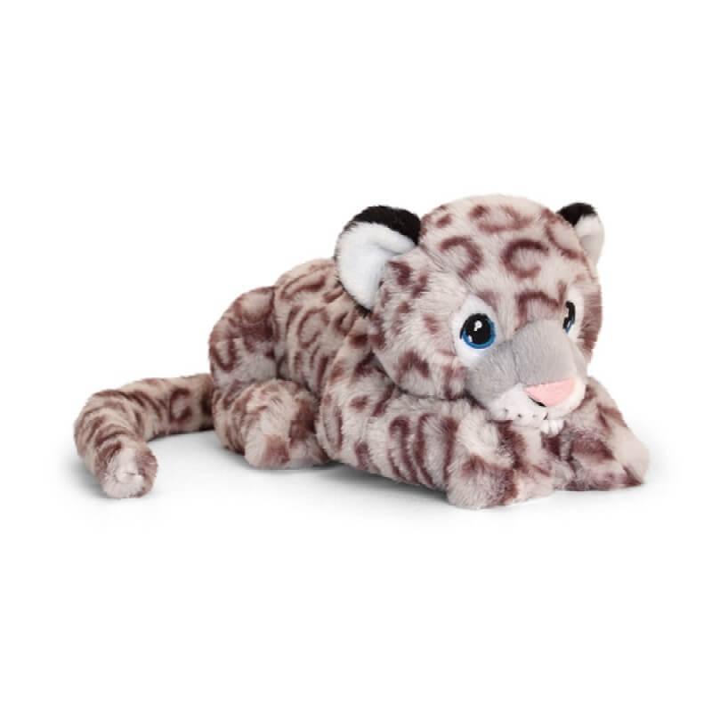 Peluche leopard des neiges keeleco 100 matiere recyclee