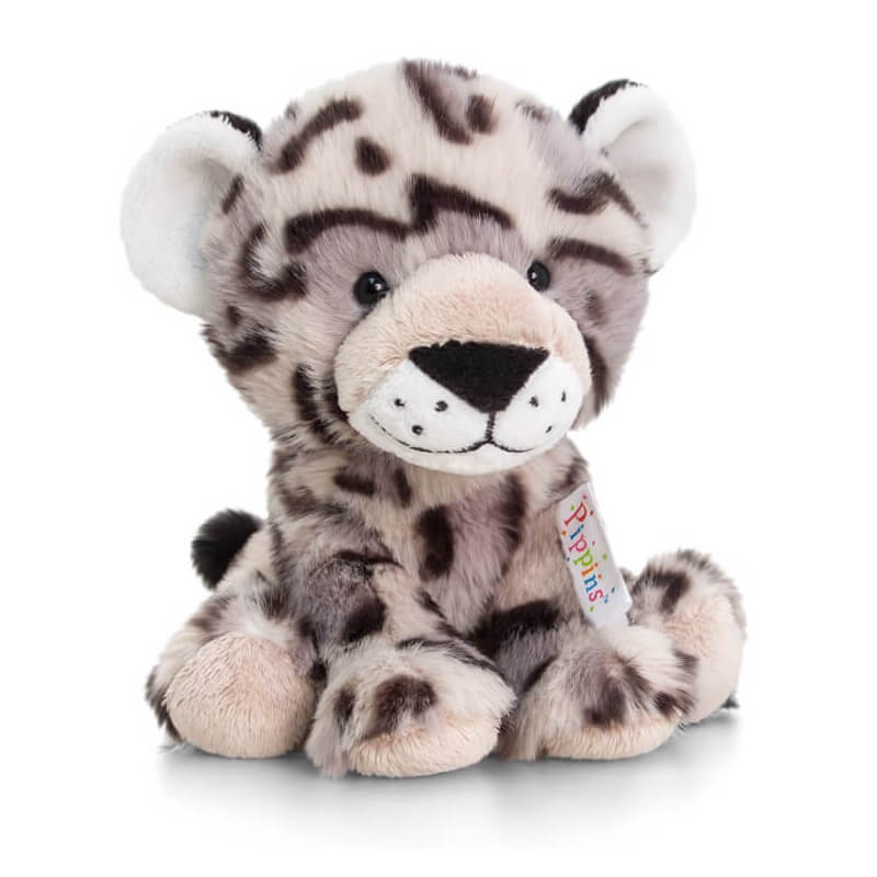 Peluche leopard des neiges pippins keel toys