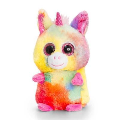 Peluche licorne multi-couleurs aux gros yeux Mini Motsu Keel Toys
