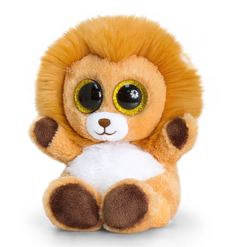 Peluche lion keel toys animotsu gamme peluches gros yeux 1