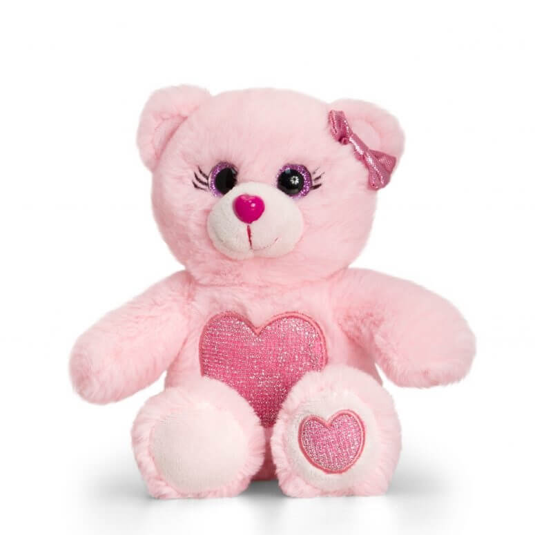 Peluche ours rose clair keel toys 1