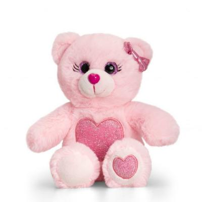 Peluche ours rose clair keel toys