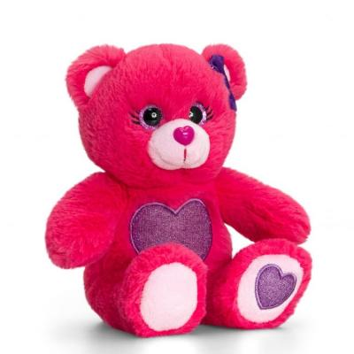 Peluche ours rose fonce keel toys