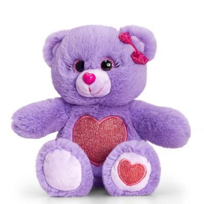 Peluche ours violet Keel Toys