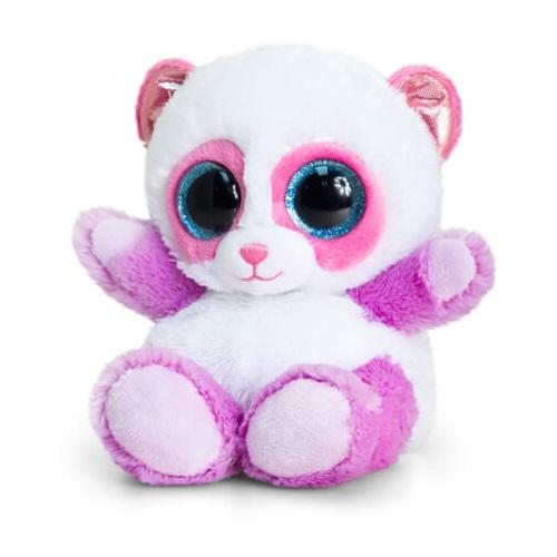 Peluche panda blanche et violette aux gros yeux keel toys