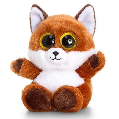 Peluche renard aux gros yeux pleine de douceur - Jeux de toutou a gros yeux ...