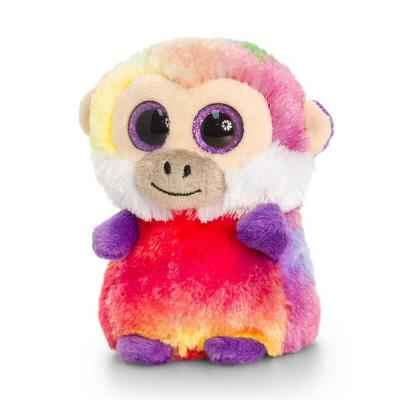 Peluche singe multi-couleurs aux gros yeux Mini Motsu Keel Toys