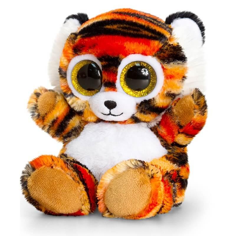 Peluche tigre aux gros yeux maxi animotsu wild keel toys