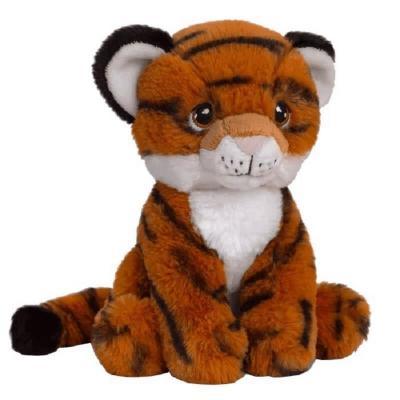 Peluche tigre Eco responsable Keeleco de 18 cm.