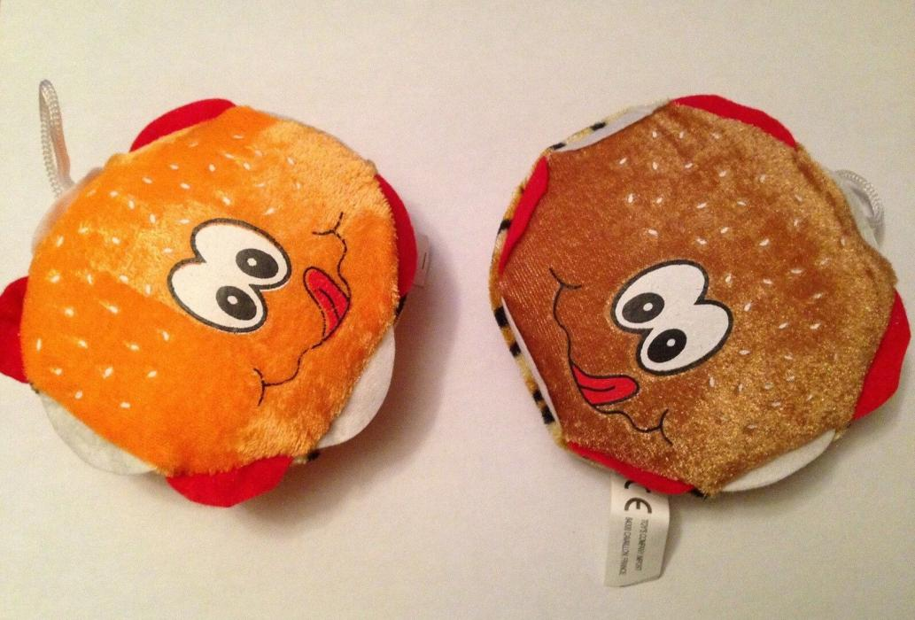 Peluches burger marron et orange