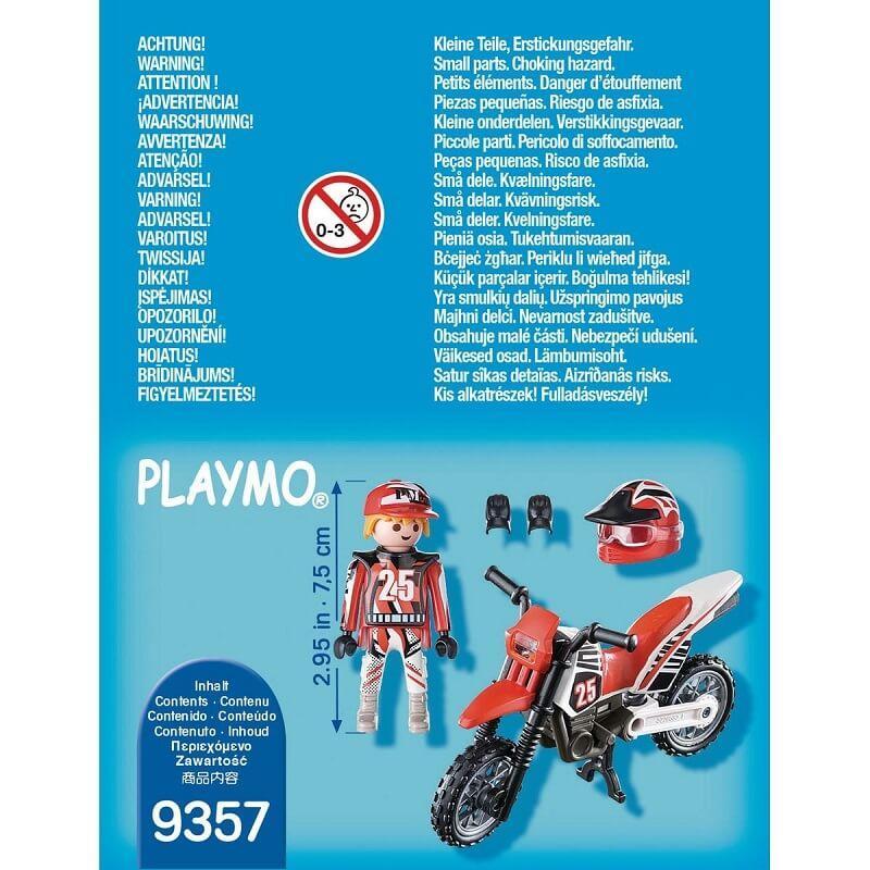 Pilote de motocross playmobil