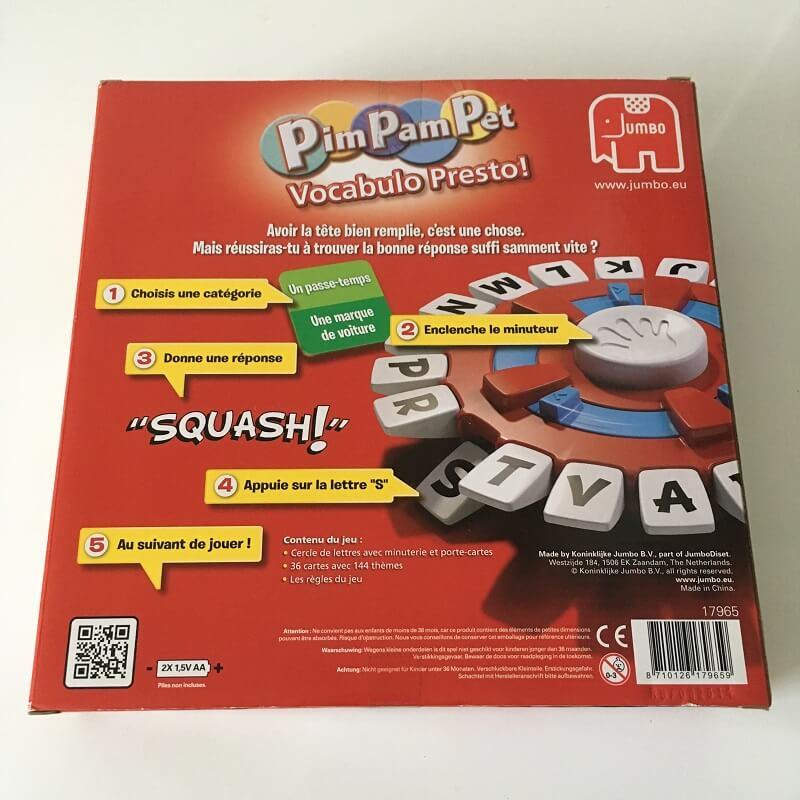 Pim pam pet jeu de societe grande version jumbo