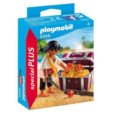 Pirate avec son coffre au trésor Playmobil
