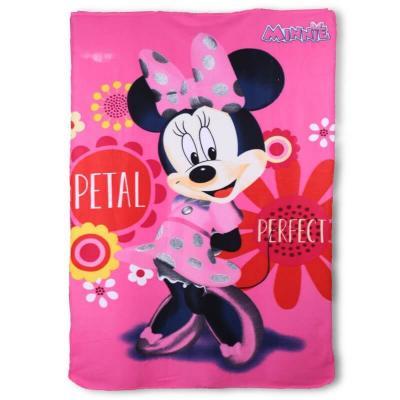 Plaid Minnie trés doux sous licence Disney