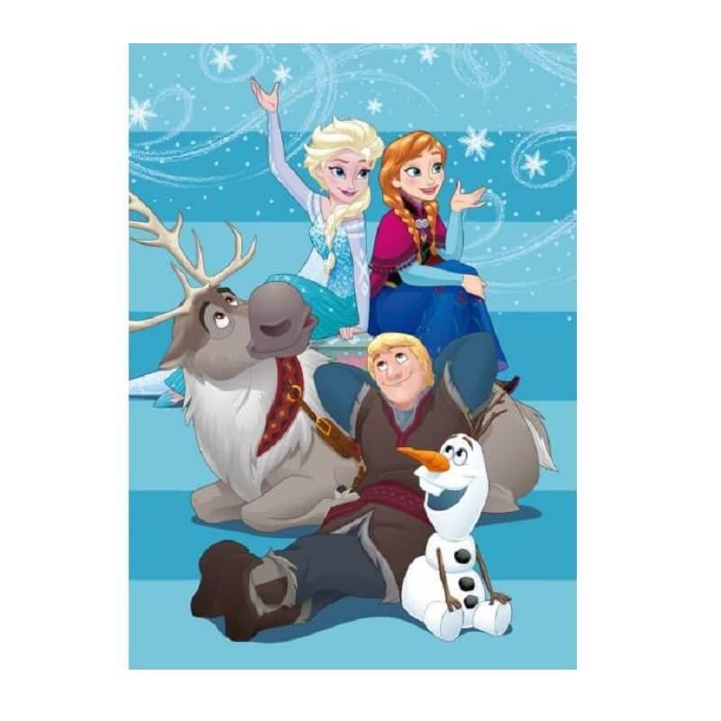 Plaid polaire La reine des neiges sous licence Disney