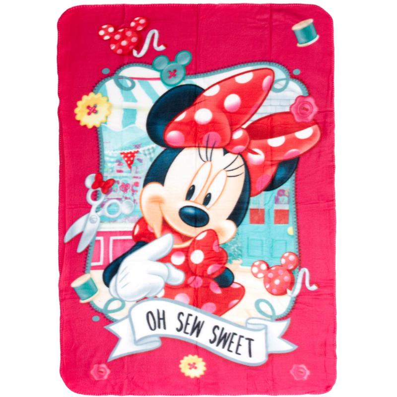Plaid polaire minnie enfant rose 1