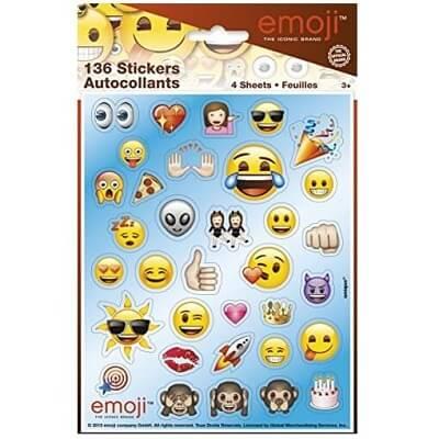 Planches d autocollants emoji lot de 4 planches