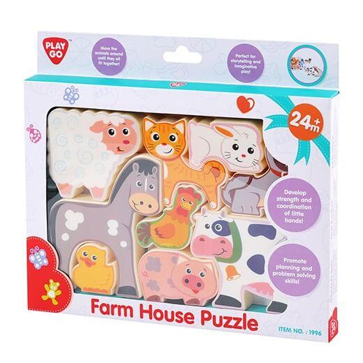 Play go puzzle les animaux de la ferme