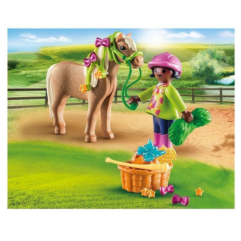 Playmobil cavaliere et son poney
