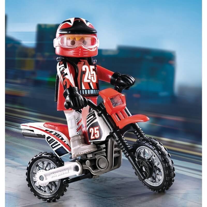Playmobil moto et son pilote